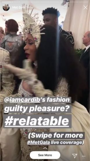Vogue Instagram Story for the Met Gala