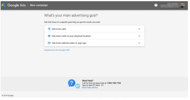 Objectifs publicitaires Google