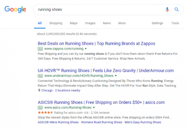 Google search network ads