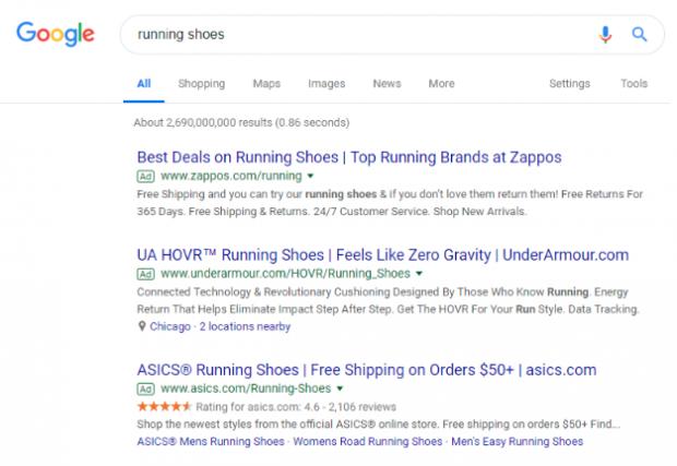 Annonces du réseau de recherche Google