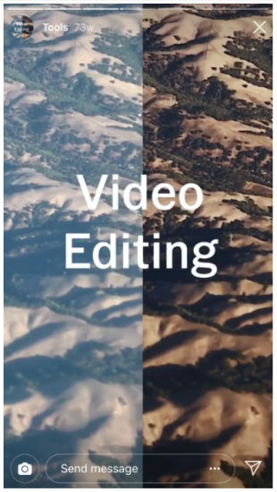 video editing Instagram Story