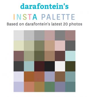 La palette insta de Dara Fontein