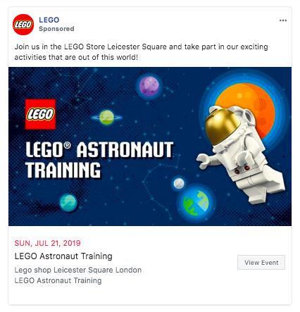 LEGO Facebook ad