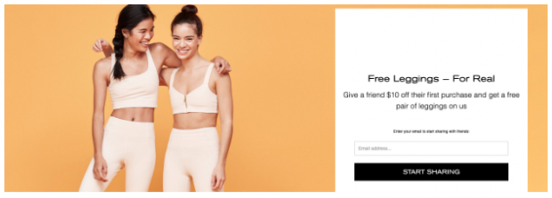 Girlfriend Collective referral marketing campaign