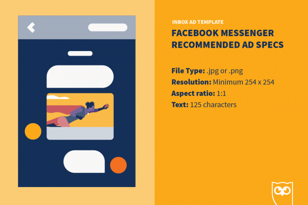 Facebook ad template for messenger (specs)