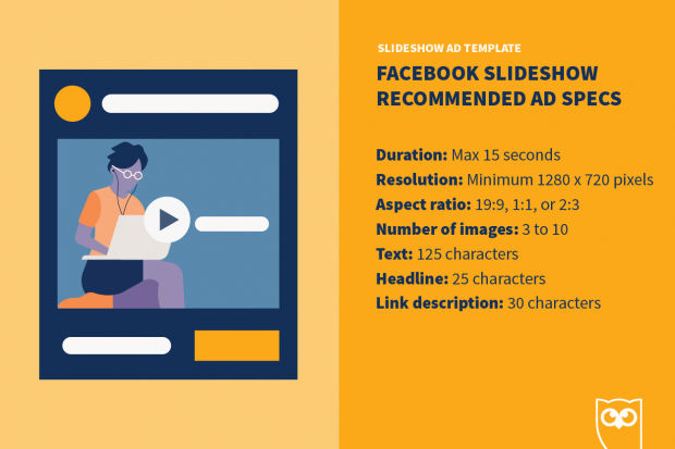 Facebook slideshow ad template specs