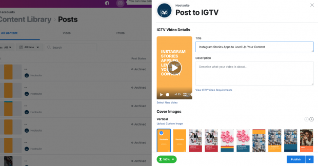 how to schedule IGTV videos step 6