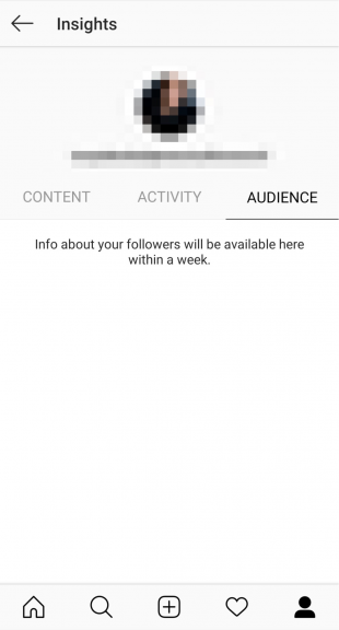 "Instagram creator profile insights ""Audience"" tab"