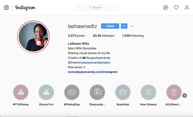 LaShawn Wiltz Instagram profile