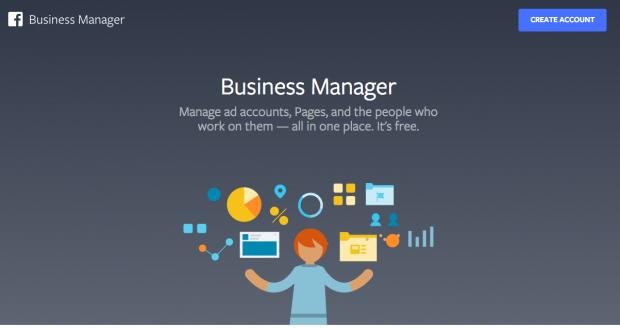 Portail d'accueil de Facebook Business Manager