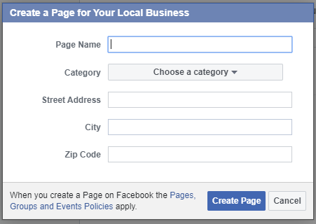 "Entering information for ""Your Local Business"""