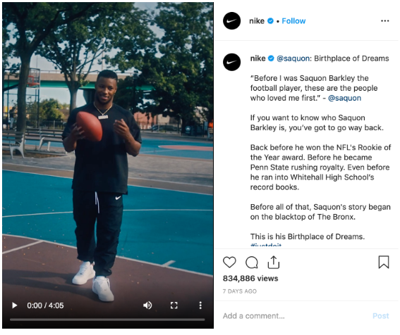 Instagram feed video from Nike