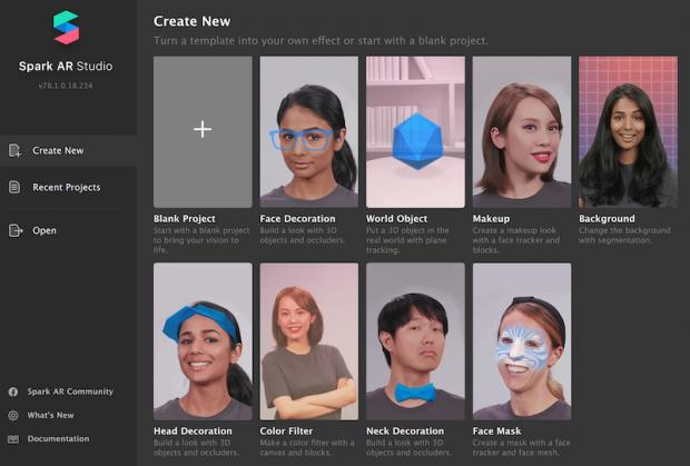 create AR filters