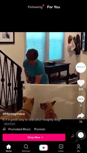 Homeymore TikTok ad