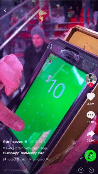 Cash App TikTok ad