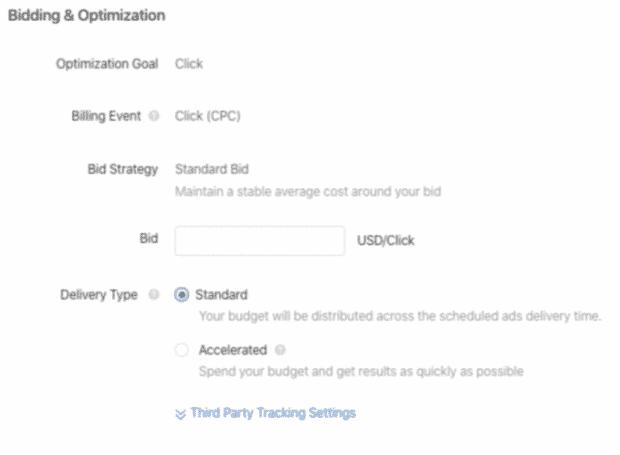 Impostazioni di offerta e ottimizzazione per gli annunci TikTok