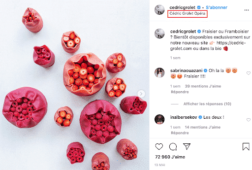 social cooking - instagram example