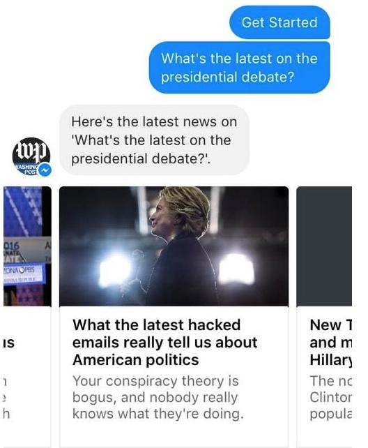 Washington Post on Facebook Messenger