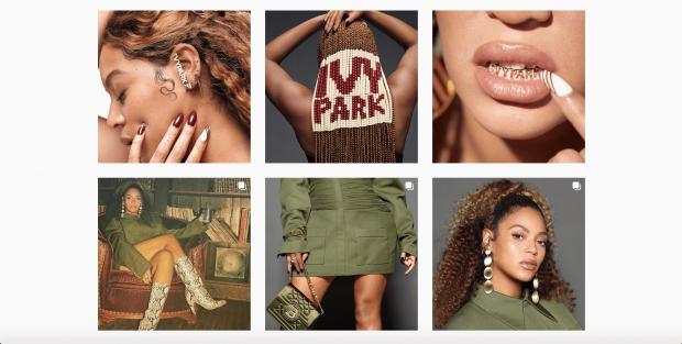 Grille Instagram de Beyonce