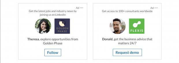 Annonces dynamiques LinkedIn