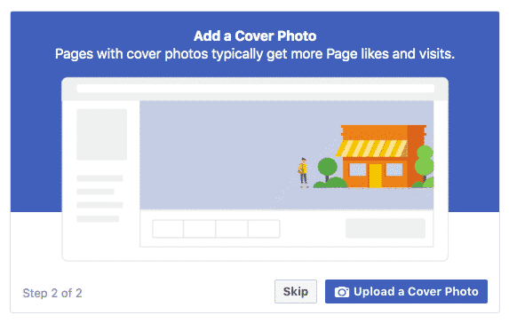 Add a cover photo screen