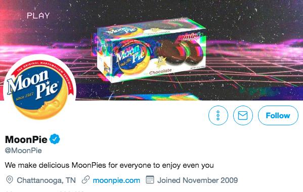 Bio sur Twitter pour Moonpie
