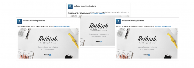 3 personalized LinkedIn ads