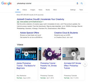 "search results for ""photoshop tutorial"""