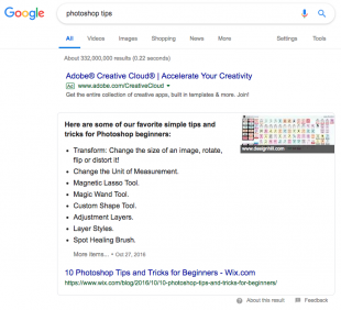 search results for photoshop tips