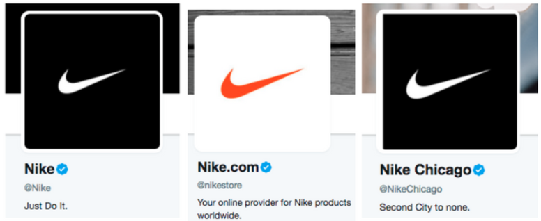 Nike Twitter accounts