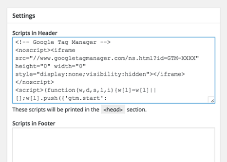 Insérer le plugin Headers and Footers