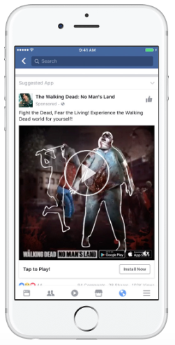 Facebook ad by The Walking Dead