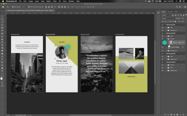 editing instagram stories templates