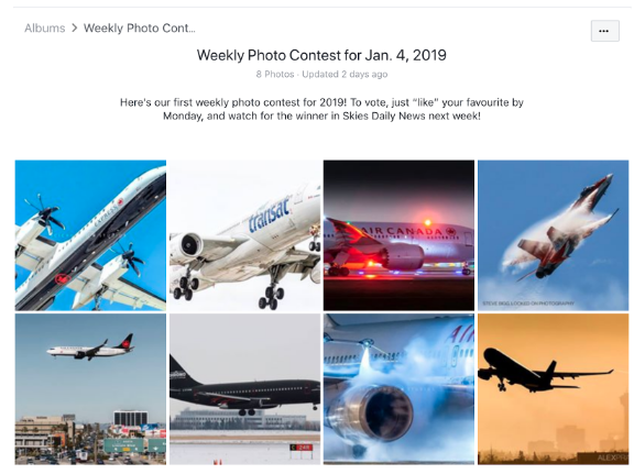 Facebook contest by Skies Magazine