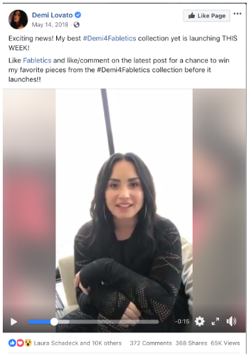 Demi Lovato Facebook contest