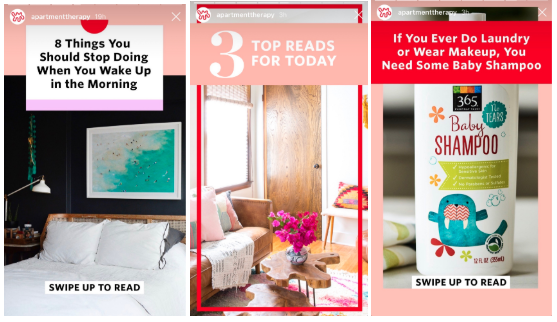 instagram stories templates by Apartment Therapy