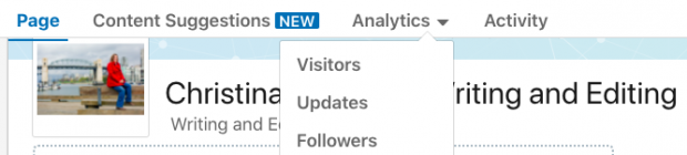LinkedIn Analytics dashboard
