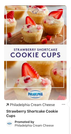 pinterest ad for Philadelphia Cream Cheese