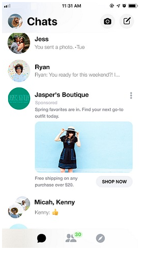facebook messenger advertisement