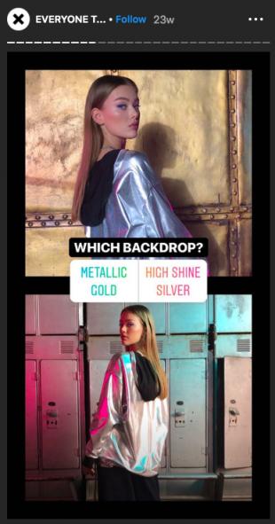 Instagram Stories poll