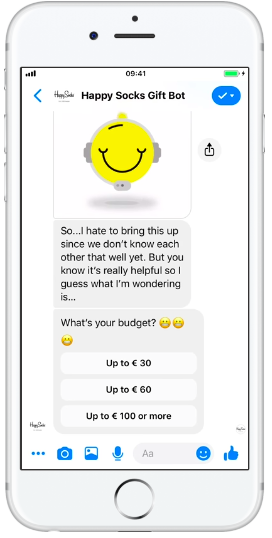 Happy Socks Facebook Messenger bot