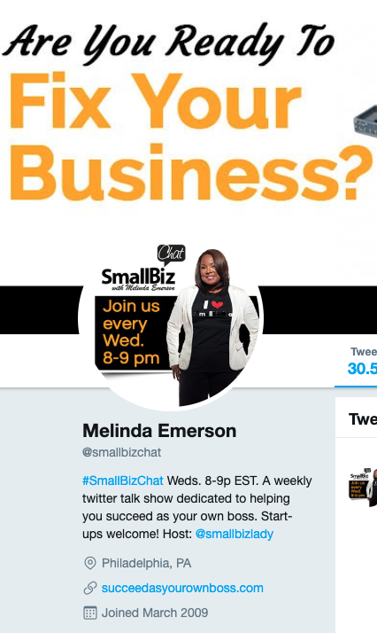 Small Biz Chat Twitter profile
