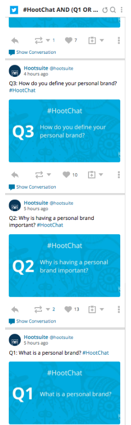 #Hootchat in Streams