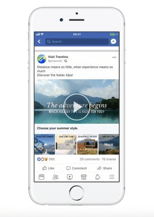 Visit Trentino facebook ad