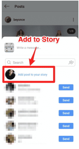 Add to Story option