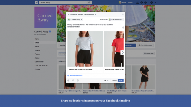 Application de page Facebook Shopify