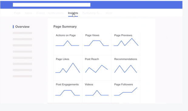 Pagina panoramica di Facebook Insights