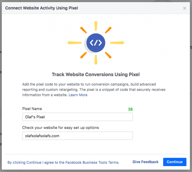 Setting up Facebook Pixel in Business Manager