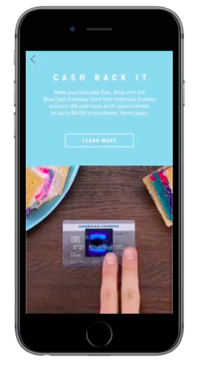 Annonce Facebook Amex