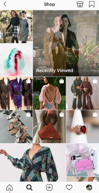 Shoppable Instagram posts on the Explore page